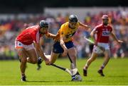 1 July 2018; Tony Kelly of Clare in action against Christopher Joyce of Cork during the Munster GAA Hurling Senior Championship Final match between Cork and Clare at Semple Stadium in Thurles, Tipperary. Photo by Eóin Noonan/Sportsfile