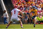 1 July 2018; Podge Collins of Clare in action against Anthony Nash of Cork during the Munster GAA Hurling Senior Championship Final match between Cork and Clare at Semple Stadium in Thurles, Tipperary. Photo by Eóin Noonan/Sportsfile