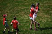 1 July 2018; Darragh Fitzgibbon, left and Daniel Kearney of Cork celebrate following the Munster GAA Hurling Senior Championship Final match between Cork and Clare at Semple Stadium in Thurles, Tipperary. Photo by David Fitzgerald/Sportsfile
