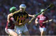 1 July 2018; TJ Reid of Kilkenny is tackled by John Hanbury of Galway during the Leinster GAA Hurling Senior Championship Final match between Kilkenny and Galway at Croke Park in Dublin. Photo by Ramsey Cardy/Sportsfile
