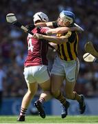 1 July 2018; TJ Reid of Kilkenny in action against John Hanbury of Galway during the Leinster GAA Hurling Senior Championship Final match between Kilkenny and Galway at Croke Park in Dublin. Photo by Ramsey Cardy/Sportsfile