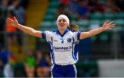 1 July 2018; Alison McEvoy of Laois celebrates after the TG4 Leinster Intermediate Championship Final match between Laois and Wicklow at Netwatch Cullen Park, Carlow. Photo by Piaras Ó Mídheach/Sportsfile