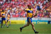 1 July 2018; John Conlon of Clare celebrates after scoring a point during the Munster GAA Hurling Senior Championship Final match between Cork and Clare at Semple Stadium in Thurles, Tipperary. Photo by David Fitzgerald/Sportsfile