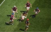1 July 2018; Conor Fogarty of Kilkenny in action against Galway players, left to right, Conor Cooney, Joe Canning, Conor Whelan, and Johnny Coen during the Leinster GAA Hurling Senior Championship Final match between Kilkenny and Galway at Croke Park in Dublin. Photo by Daire Brennan/Sportsfile