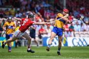 1 July 2018; John Conlon of Clare in action against Damien Cahalane of Cork during the Munster GAA Hurling Senior Championship Final match between Cork and Clare at Semple Stadium in Thurles, Tipperary. Photo by David Fitzgerald/Sportsfile