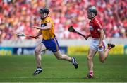 1 July 2018; Tony Kelly of Clare in action against Mark Coleman of Cork during the Munster GAA Hurling Senior Championship Final match between Cork and Clare at Semple Stadium in Thurles, Tipperary. Photo by David Fitzgerald/Sportsfile