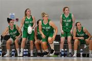 1 July 2018; Ireland players, from left, Stephanie O'Shea, Danielle O'Leary, Hannah Thornton, Sorcha Tiernan and Casey Grace watch a tense final moments of the FIBA 2018 Women's European Championships for Small Nations Classification 5-6 match between Cyprus and Ireland at Mardyke Arena, Cork, Ireland. Photo by Brendan Moran/Sportsfile