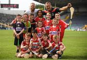 1 July 2018; Cork manager John Meyler with his son and Republic of Ireland footballer David Meyler with Cork supporters from Bride Rovers GAA club, Co Cork following the Munster GAA Hurling Senior Championship Final match between Cork and Clare at Semple Stadium in Thurles, Tipperary. Photo by Eóin Noonan/Sportsfile
