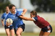 1 July 2018; Noëlle Healy of Dublin in action against Lucy Power of Westmeath during the TG4 Leinster Ladies Senior Football Final match between Dublin and Westmeath at Netwatch Cullen Park in Carlow. Photo by Piaras Ó Mídheach/Sportsfile