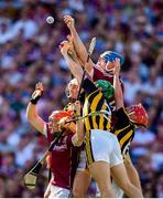 1 July 2018; Conor Whelan, left, and Conor Cooney of Galway compete against Kilkenny players, from left, Padraig Walsh, Paul Murphy and Cillian Buckley during the Leinster GAA Hurling Senior Championship Final match between Kilkenny and Galway at Croke Park in Dublin. Photo by Stephen McCarthy/Sportsfile