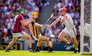 1 July 2018; Galway goalkeeper James Skehill and Adrian Tuohey, left, in action against Colin Fennelly of Kilkenny during the Leinster GAA Hurling Senior Championship Final match between Kilkenny and Galway at Croke Park in Dublin. Photo by Stephen McCarthy/Sportsfile