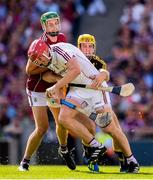 1 July 2018; Galway goalkeeper James Skehill and Adrian Tuohey in action against Colin Fennelly of Kilkenny during the Leinster GAA Hurling Senior Championship Final match between Kilkenny and Galway at Croke Park in Dublin. Photo by Stephen McCarthy/Sportsfile