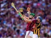 1 July 2018; Adrian Tuohey of Galway in action against Ger Aylward of Kilkenny during the Leinster GAA Hurling Senior Championship Final match between Kilkenny and Galway at Croke Park in Dublin. Photo by Stephen McCarthy/Sportsfile