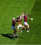 1 July 2018; Conor Whelan, right, and Joe Canning of Galway in action against Conor Fogarty, left, and Enda Morrissey of Kilkenny during the Leinster GAA Hurling Senior Championship Final match between Kilkenny and Galway at Croke Park in Dublin. Photo by Daire Brennan/Sportsfile