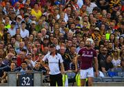 1 July 2018; Kilkenny manager Brian Cody watches a late free by Joe Canning of Galway during the Leinster GAA Hurling Senior Championship Final match between Kilkenny and Galway at Croke Park in Dublin. Photo by Ramsey Cardy/Sportsfile