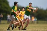 1 July 2018; Tom Nolan of Claregalway in action during the John West Féile Peil na nÓg National Competitions 2018 match between Claregalway and Clonduff GAC at Stamullen GAA in Meath. This is the third year that the Féile na nGael and Féile Peile na nÓg have been sponsored by John West, one of the world's leading suppliers of fish. The competition gives up-and-coming GAA superstars the chance to participate and play in their respective Féile tournament, at a level which suits their age, skills and strengths. Photo by Harry Murphy/Sportsfile