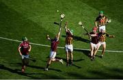 1 July 2018; Conor Whelan of Galway in action against Paul Murphy of Kilkenny during the Leinster GAA Hurling Senior Championship Final match between Kilkenny and Galway at Croke Park in Dublin. Photo by Daire Brennan/Sportsfile
