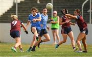 1 July 2018; Noëlle Healy of Dublin shoots under pressure from the Westmeath defence the TG4 Leinster Ladies Senior Football Final match between Dublin and Westmeath at Netwatch Cullen Park in Carlow. Photo by Piaras Ó Mídheach/Sportsfile