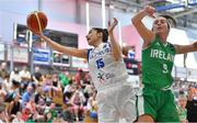 1 July 2018; Sofia Theologou of Cyprus in action against Grainne Dwyer of Ireland during the FIBA 2018 Women's European Championships for Small Nations Classification 5-6 match between Cyprus and Ireland at Mardyke Arena, Cork, Ireland. Photo by Brendan Moran/Sportsfile