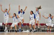 1 July 2018; Cyprus players celebrate a late score by their team-mates during the FIBA 2018 Women's European Championships for Small Nations Classification 5-6 match between Cyprus and Ireland at Mardyke Arena, Cork, Ireland. Photo by Brendan Moran/Sportsfile