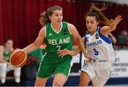 1 July 2018; Claire Rockall of Ireland in action against Christiana Menelaou of Cyprus during the FIBA 2018 Women's European Championships for Small Nations Classification 5-6 match between Cyprus and Ireland at Mardyke Arena, Cork, Ireland. Photo by Brendan Moran/Sportsfile