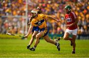 1 July 2018; Conor McGrath of Clare in action against Eoin Cadogan of Cork during the Munster GAA Hurling Senior Championship Final match between Cork and Clare at Semple Stadium in Thurles, Tipperary. Photo by Ray McManus/Sportsfile
