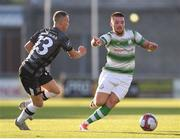 2 July 2018; Brandon Miele of Shamrock Rovers in action against Karolis Chvedukas of Dundalk of Dundalk during the Leinster Senior Cup Quarter-Final match between Shamrock Rovers and Dundalk at Tallaght Stadium in Dublin. Photo by Tom Beary/Sportsfile