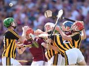 1 July 2018; Conor Whelan, left, and Conor Cooney of Galway compete against Kilkenny players Joey Holden, left, Padraig Walsh, Paul Murphy, 2, and Cillian Buckley, right, during the Leinster GAA Hurling Senior Championship Final match between Kilkenny and Galway at Croke Park in Dublin. Photo by Stephen McCarthy/Sportsfile