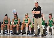 1 July 2018; Ireland head coach Mark Scannell during the FIBA 2018 Women's European Championships for Small Nations Classification 5-6 match between Cyprus and Ireland at Mardyke Arena, Cork, Ireland. Photo by Brendan Moran/Sportsfile