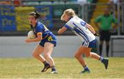 1 July 2018; Rose Fagan of Wicklow in action against Laura Nerney of Laois during the TG4 Leinster Intermediate Championship Final match between Laois and Wicklow at Netwatch Cullen Park, Carlow. Photo by Piaras Ó Mídheach/Sportsfile
