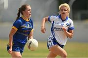 1 July 2018; Alanna Conroy of Wicklow in action against Eva Galvin of Laois during the TG4 Leinster Intermediate Championship Final match between Laois and Wicklow at Netwatch Cullen Park, Carlow. Photo by Piaras Ó Mídheach/Sportsfile