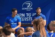 4 July 2018; Leinster players Noel Reid, left, and Fergus McFadden answer children's questions during the Bank of Ireland Leinster Rugby Summer Camp at Wexford Wanderers RFC in Wexford. Photo by Matt Browne/Sportsfile