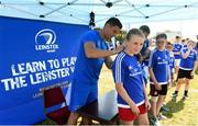 4 July 2018; Leinster player Noel Reid signs Ruby Murphy's jersey during the Bank of Ireland Leinster Rugby Summer Camp at Wexford Wanderers RFC in Wexford. Photo by Matt Browne/Sportsfile