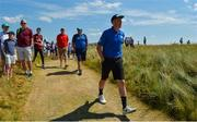 4 July 2018; Kerry GAA player Kieran Donaghy during the Pro-Am round ahead of the Irish Open Golf Championship at Ballyliffin Golf Club in Ballyliffin, Co. Donegal. Photo by Oliver McVeigh/Sportsfile