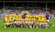4 July 2018; The Wexford team prior to the Bord Gais Energy Leinster Under 21 Hurling Championship 2018 Final match between Wexford and Galway at O'Moore Park in Portlaoise, Co Laois. Photo by Sam Barnes/Sportsfile