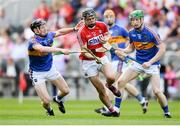 4 July 2018; Darragh Fitzgibbon of Cork in action against Jerome Cahill of Tipperary during the Bord Gáis Energy Munster GAA Hurling U21 Championship Final match between Cork and Tipperary at Pairc Ui Chaoimh in Cork. Photo by Eóin Noonan/Sportsfile