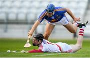 4 July 2018; Ger Collins of Cork in action against David Gleeson of Tipperary during the Bord Gáis Energy Munster GAA Hurling U21 Championship Final match between Cork and Tipperary at Pairc Ui Chaoimh in Cork. Photo by Eóin Noonan/Sportsfile