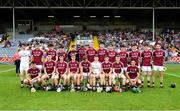 4 July 2018; The Galway team prior to the Bord Gais Energy Leinster Under 21 Hurling Championship 2018 Final match between Wexford and Galway at O'Moore Park in Portlaoise, Co Laois. Photo by Sam Barnes/Sportsfile