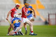 4 July 2018; Conor Cahalane of Cork celebrates after winning a free for his side during the Bord Gáis Energy Munster GAA Hurling U21 Championship Final match between Cork and Tipperary at Pairc Ui Chaoimh in Cork. Photo by Eóin Noonan/Sportsfile