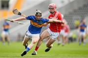 4 July 2018; Jerome Cahill of Tipperary in action against David Lowney of Cork during the Bord Gáis Energy Munster GAA Hurling U21 Championship Final match between Cork and Tipperary at Pairc Ui Chaoimh in Cork. Photo by Eóin Noonan/Sportsfile