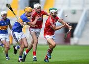 4 July 2018; Shane Kingston, right, and Tim O'Mahony of Cork in action against Podge Campion of Tipperary during the Bord Gáis Energy Munster GAA Hurling U21 Championship Final match between Cork and Tipperary at Pairc Ui Chaoimh in Cork. Photo by Matt Browne/Sportsfile