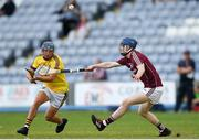 4 July 2018; Seamus Casey of Wexford in action against Shane Bannon of Galway during the Bord Gais Energy Leinster Under 21 Hurling Championship 2018 Final match between Wexford and Galway at O'Moore Park in Portlaoise, Co Laois. Photo by Harry Murphy/Sportsfile