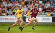 4 July 2018; Brian Concannon of Galway in action against Garry Molloy of Wexford during the Bord Gais Energy Leinster Under 21 Hurling Championship 2018 Final match between Wexford and Galway at O'Moore Park in Portlaoise, Co Laois. Photo by Harry Murphy/Sportsfile