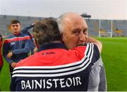 4 July 2018; Cork manager Denis Ring celebrates with Frank Murphy, Secretary of the Cork County Board, following the Bord Gáis Energy Munster GAA Hurling U21 Championship Final match between Cork and Tipperary at Pairc Ui Chaoimh in Cork. Photo by Eóin Noonan/Sportsfile
