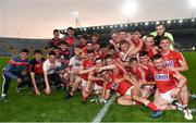 4 July 2018; Cork players celebrate with the cup following the Bord Gáis Energy Munster GAA Hurling U21 Championship Final match between Cork and Tipperary at Pairc Ui Chaoimh in Cork. Photo by Eóin Noonan/Sportsfile