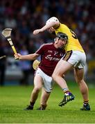 4 July 2018; Ronan Murphy of Galway in action against Aaron Maddock of Wexford during the Bord Gais Energy Leinster Under 21 Hurling Championship 2018 Final match between Wexford and Galway at O'Moore Park in Portlaoise, Co Laois. Photo by Sam Barnes/Sportsfile