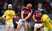 4 July 2018; Jack Canning of Galway takes a shot at goal during the Bord Gais Energy Leinster Under 21 Hurling Championship 2018 Final match between Wexford and Galway at O'Moore Park in Portlaoise, Co Laois. Photo by Sam Barnes/Sportsfile