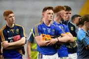 4 July 2018; Jerome Cahill of Tipperary with his team-mates after the Bord Gáis Energy Munster GAA Hurling U21 Championship Final match between Cork and Tipperary at Pairc Ui Chaoimh in Cork. Photo by Matt Browne/Sportsfile