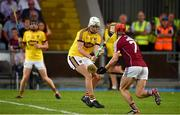 4 July 2018; Rory O'Connor of Wexford in action against Jack Grealish of Galway during the Bord Gais Energy Leinster Under 21 Hurling Championship 2018 Final match between Wexford and Galway at O'Moore Park in Portlaoise, Co Laois. Photo by Sam Barnes/Sportsfile