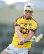 4 July 2018; Mikie Dwyer of Wexford during the Bord Gais Energy Leinster Under 21 Hurling Championship 2018 Final match between Wexford and Galway at O'Moore Park in Portlaoise, Co Laois. Photo by Sam Barnes/Sportsfile